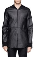 3.1 Phillip Lim Rounded Hem Leather Jacket - Lyst