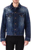 McQ by Alexander McQueen Repaired Denim Jacket - Lyst