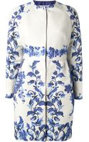 Valentino Embroidered Floral Coat - Lyst