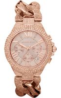 Michael Kors Womens Chronograph Camille Rose Goldtone Stainless Steel Bracelet 44mm - Lyst