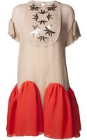 Delpozo Embroidered Dress - Lyst