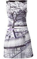 Mary Katrantzou Tree Print Dress - Lyst