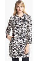 Kate Spade Franny Cotton Silk Coat - Lyst