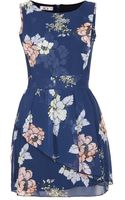 Topshop Floral Peplum Dress By Wal G - Lyst
