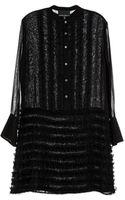 Cynthia Rowley Ruffle Tuxedo Dress - Lyst