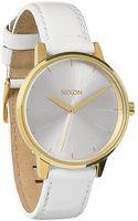 Nixon The Kensington Leather Watch - Lyst