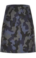 Christopher Kane Camo Wool Pencil Skirt - Lyst