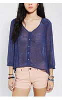 Urban Outfitters Pins and Needles Pintuck Shoulder Blouse - Lyst