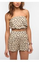 Urban Outfitters Fire Polka Dot Bandeau Top - Lyst