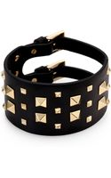 Valentino Rockstud Wide Leather Bracelet - Lyst