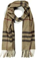 Burberry Cashmere Giant Check Icon Scarf in Smoked Trench - Lyst