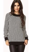Forever 21 Striped High-neck Sweater - Lyst