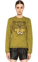 Kenzo Embroidered Tiger Marl Sweatshirt - Lyst