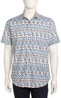 Robert Graham Nauticalprint Shortsleeve Shirt Coco Reef Xxxl - Lyst