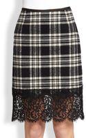 Sacai Mixedmedia Pencil Skirt - Lyst