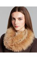 Surell Knit Infinity Loop with Fox Fur Trim - Lyst