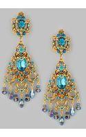 Jose & Maria Barrera Filigree Chandelier Clip Earrings Goldteal - Lyst