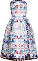 Mary Katrantzou Nevis Rose Printed Bustier Dress - Lyst