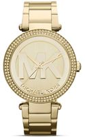 Michael Kors Midsize Parker Threehand Glitz Watch 39mm - Lyst