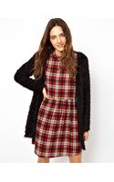 Asos Cardigan In Fluffly Fabric With Long Sleeves - Lyst