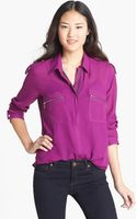 Kut From The Kloth Zip Detail Blouse - Lyst