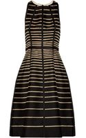 Lela Rose Striped Cotton Dress - Lyst