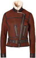 Ralph Lauren Blue Label Leather Shearling Thackery Jacket  - Lyst