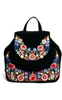 Asos Leather Backpack with Flower Embroidery - Lyst
