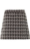 Marc By Marc Jacobs Houndstooth Miniskirt - Lyst