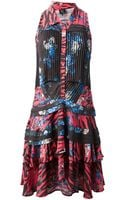 McQ by Alexander McQueen Sleeveless Printed Dress - Lyst