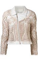Iris Van Herpen Eyelet Woven Jacket - Lyst