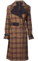 L.a.m.b. Plaid Double Breasted Coat - Lyst
