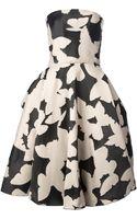 Lanvin Printed Prom Dress - Lyst