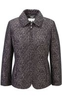 Cc Animal Print Quilted Jacket - Lyst