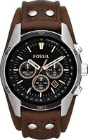 Fossil Coachman Steel and Leather Chronograph Watch Brown - Lyst