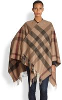Burberry Wool Check Cape - Lyst