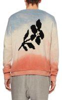 The Elder Statesman Handdyed Flower Cashmere Sweater - Lyst