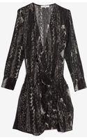 Iro Printed Silk Pleated Wrap Dress - Lyst