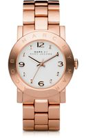Marc By Marc Jacobs Amy Crystal Rose Stainless Steel Bracelet Watch - Lyst