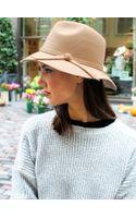 Glassworks Tan Felt Wool Floppy Hat - Lyst