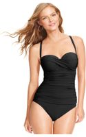 Gottex Bandeau Dcup One-Piece Swimsuit - Lyst