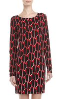 Diane Von Furstenberg Kivel Two Houndstooth Check Printed Knit Sweaterdress - Lyst