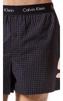Calvin Klein Slim Fit Woven Boxers - Lyst