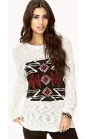 Forever 21 Rustic Slub Knit Sweater - Lyst
