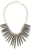 Kenneth Jay Lane Enamel Spike Golden Necklace - Lyst
