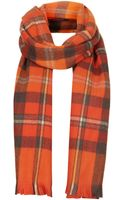 Topshop Red Traditional Check Scarf - Lyst