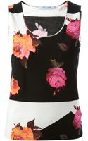 Blumarine Floral Print Top - Lyst