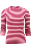 Michael Kors Long Sleeve Super Cashmere Striped Crew - Lyst