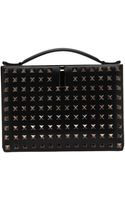 Valentino Rock Studded Clutch - Lyst