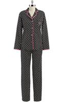 Betsey Johnson Printed Flannel Pajamas - Lyst